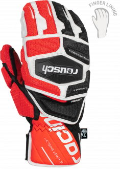 Reusch Worldcup Warrior GS Mitten 6011411 7810 white black red front